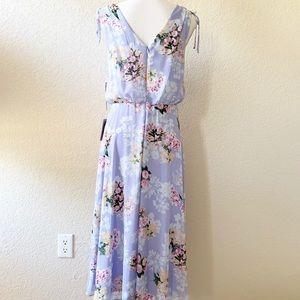 Eliza J Dresses - Eliza J Sleeveless Blouson Floral Midi Dress NWT